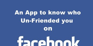 An App to know who Un-Friended you on Facebook