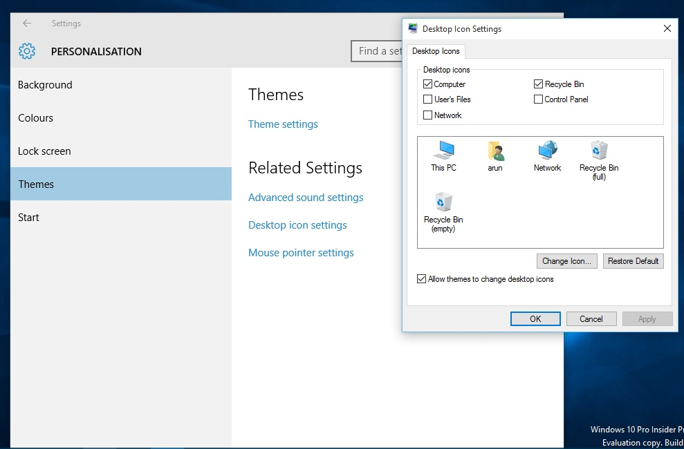 How To Enable Basic System Icons on Windows 10