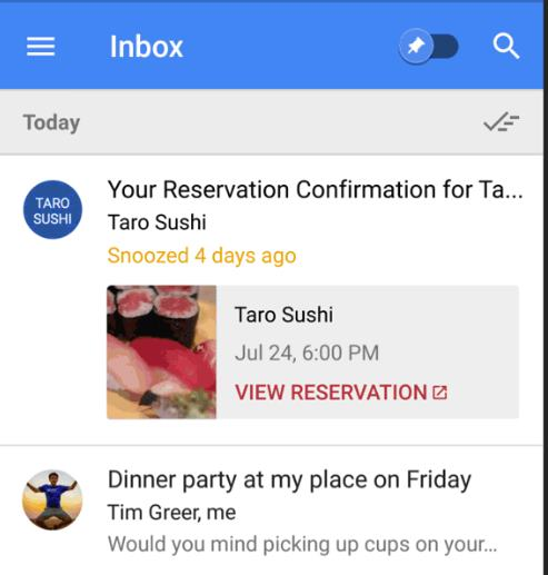 Inbox by Gmail Now Lets You To Add Right Time Snooze