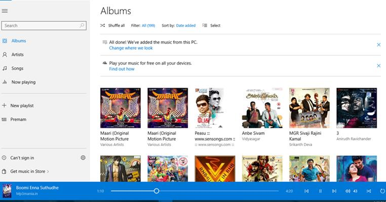 Sync Your Entire Music Collection in Music App on Windows 10