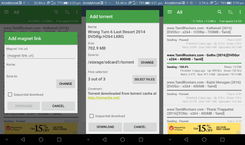 How to TTorrent Android App Screenshot