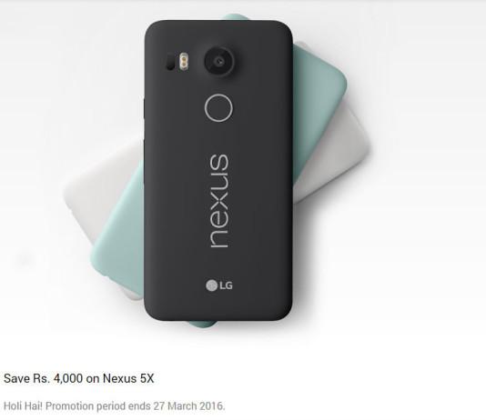 Google Nexus 5X Gets Discount of Rs 4000 in India