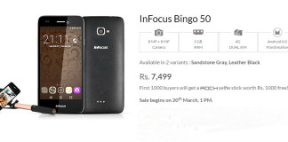 InFocus Bingo 50 Launched at Rs. 7499 with 3GB RAM