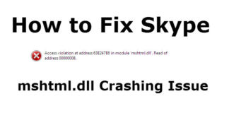 How to Fix Skype mshtml.dll Crashing Issue