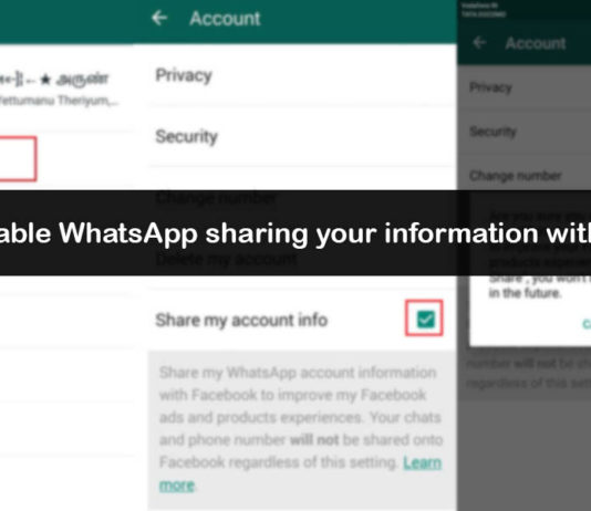 How to Disable WhatsApp sharing your information with Facebook