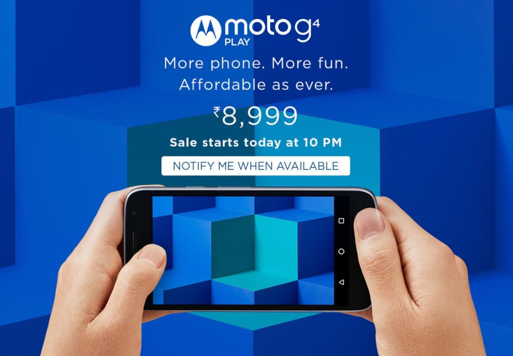 Moto G Play 4th Gen unveiled in India at Rs. 8,999
