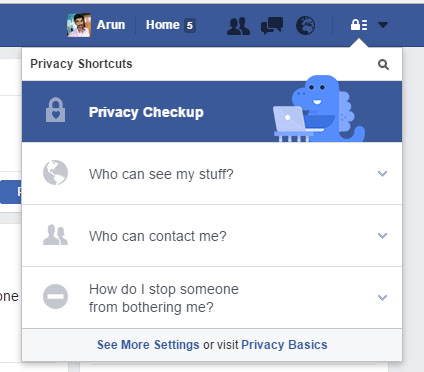 Privacy Shortcut in Facebook