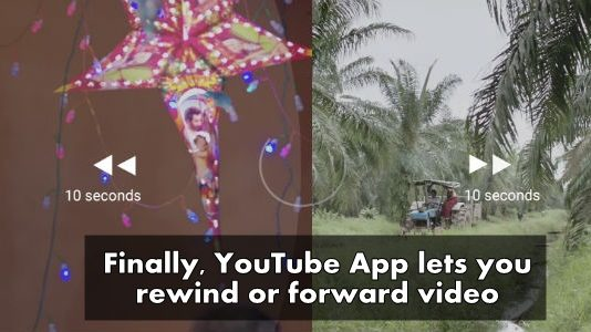 Finally YouTube App lets you rewind or forward video