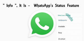 Info Tagline It Is - WhatsApp's Status Feature