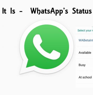 Info Tagline It Is - WhatsApp's Status Feature