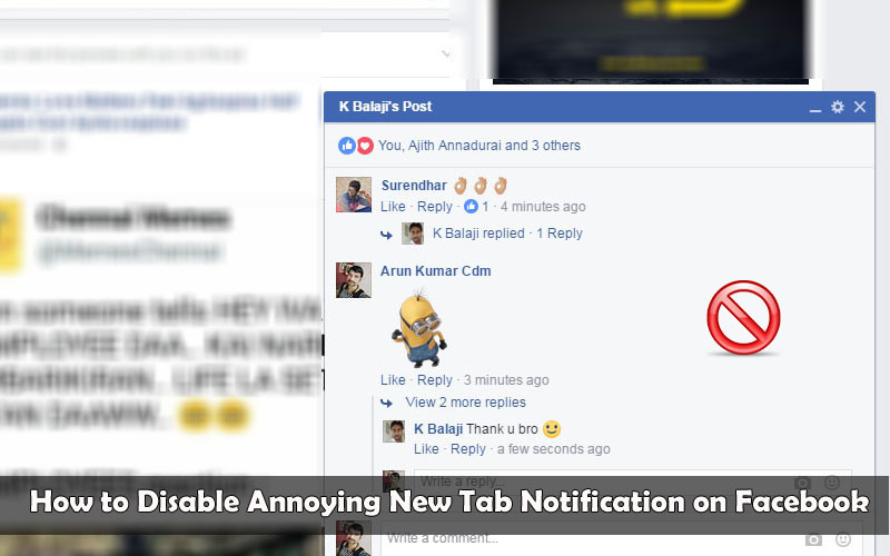 How to Disable Annoying New Tab Notification on Facebook
