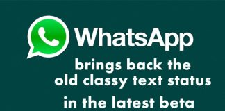 WhatsApp brings back the old classy text status in the latest beta