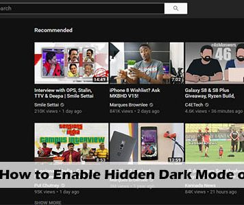 How to Enable Hidden Dark Mode on YouTube