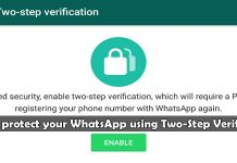 How to protect your WhatsApp using Two-Step Verification