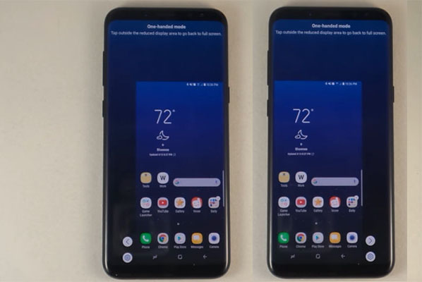 One-Handed Mode on the Samsung Galaxy S8 and S8+