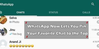 WhatsApp Now Lets You Pin Your Favorite Chat to the Top
