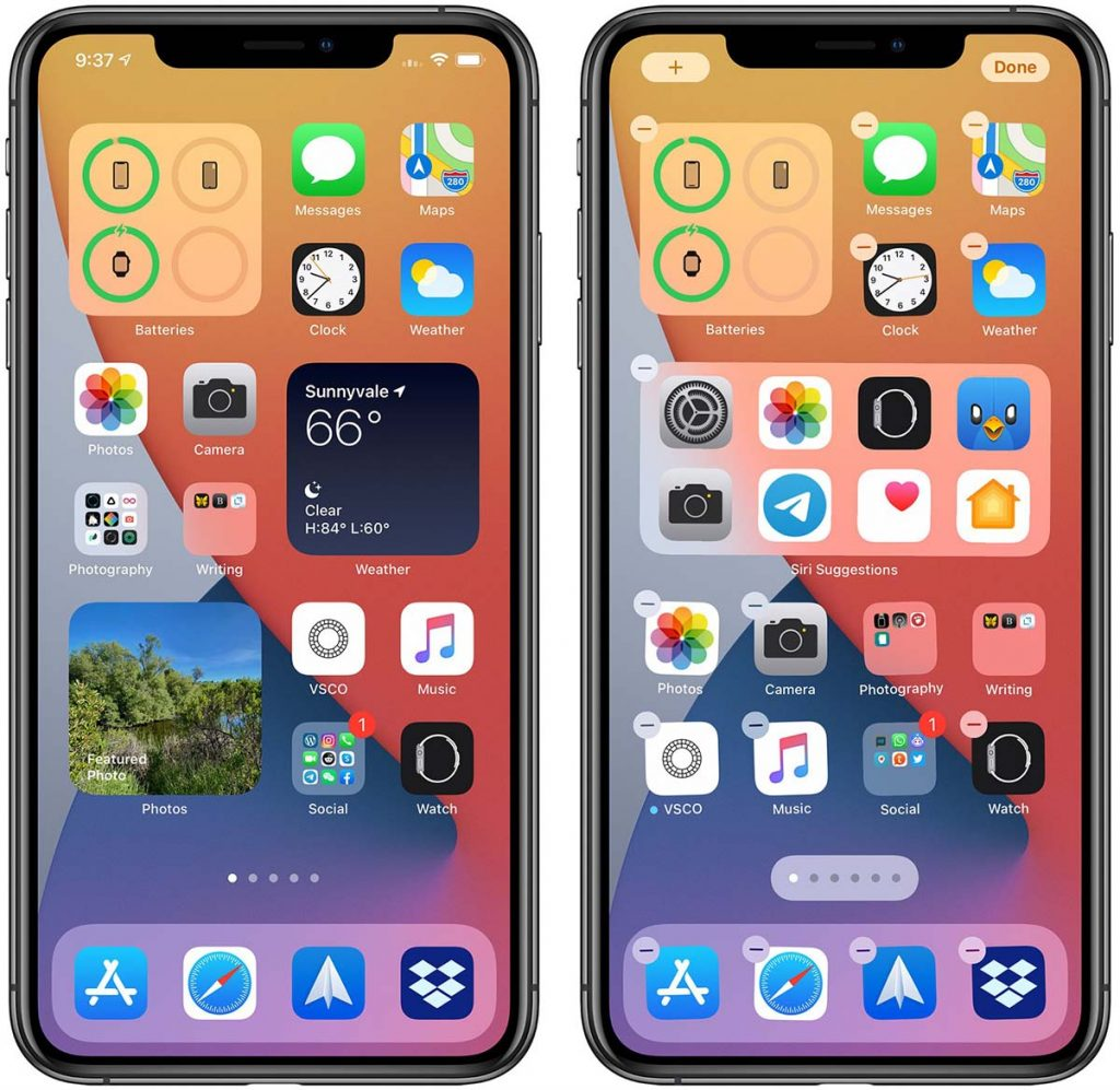 ios14 homescreen widgets